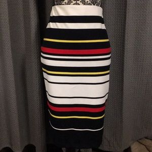 ECI multicolor striped skirt.  NWOT